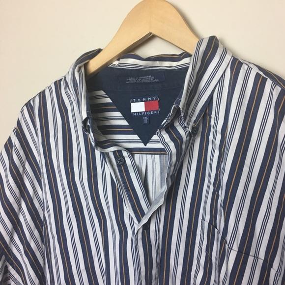 9db2ab65 Tommy Hilfiger Shirts | Vintage Striped Shirt | Poshmark